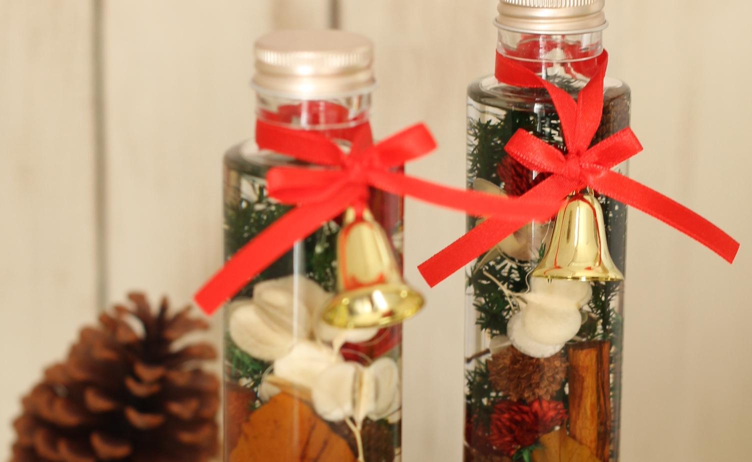 クリスマスハーバリウム、丸広百貨店川越店で販売中です