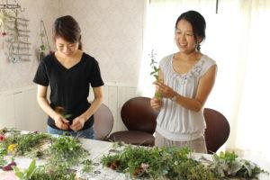 ハーブのスワッグを作ろう体験レッスン埼玉県